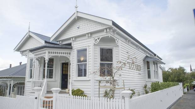 The renovated 1908 villa in Ponsonby serves as Izzard's workplace and home.