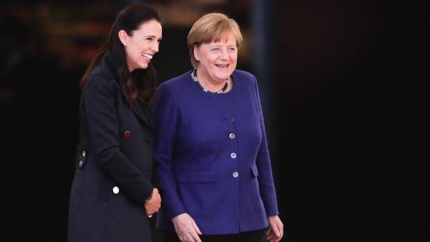 Ardern and German Chancellor Angela Merkel got on well on her visit to Berlin.