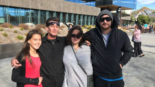Renee Duckmanton's (from left) sister Maddie, father Brent McGrath, sister Tarnisha and brother Sam after the sentencing ...
