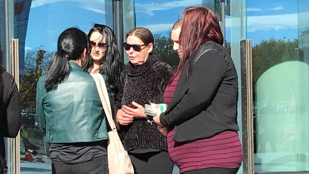 Renee Duckmanton's mother Tracy (centre)  is surrounded by supporters and family after the sentencing of her daughter's ...