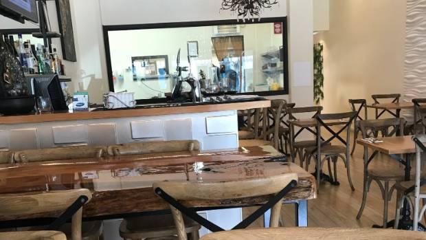 Lazat Malaysian Restaurant, Hamilton.  The Interior is woody and pleasant.