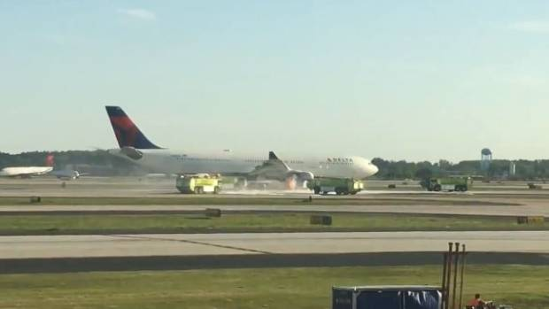 Delta plane from Atlanta to London diverted after engine fire