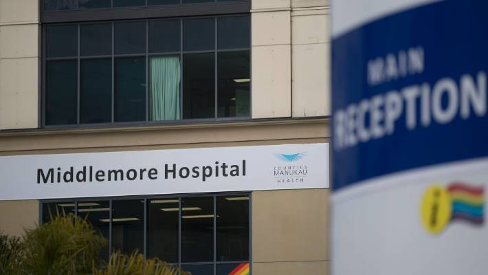 The attack happened as Middlemore Hospital staff were coming off night shift.