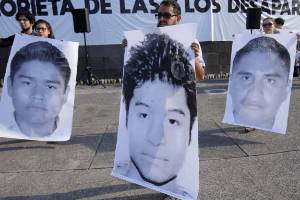 Relatives and friends of the three missing students Javier Salomon Aceves Gastelum, Marco Avalos and Jesus Daniel Diaz ...