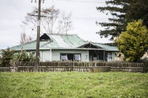 A house on Te Kawa Road near Te Awamutu and Otorohanga remained standing but was gutted by the blaze.
