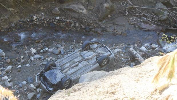 Motorist seriously injured in cliff crash