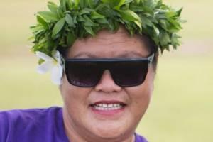 Niueans at a village cricket game called kilikiki.