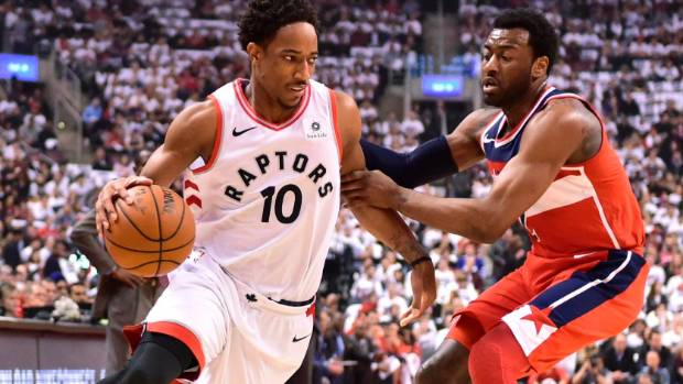 DeMar De Rozan and the Toronto Raptors are one win away from advancing to the second round of the NBA playoffs