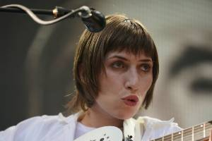 Aldous Harding performing at Laneway Festival in 2018.