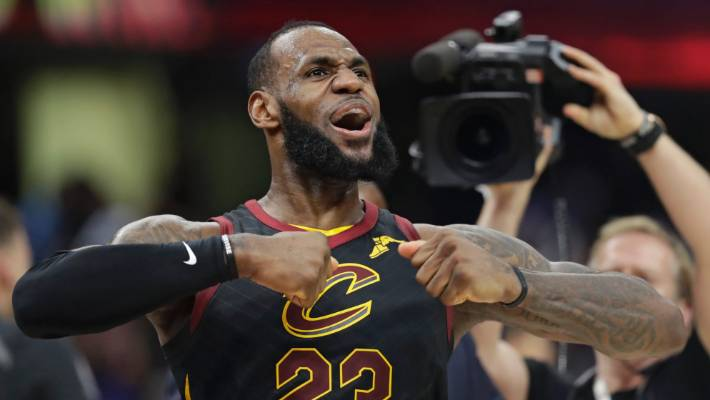1405f1f89095 LeBron James was pumped after sinking a last-second three-pointer to win  game