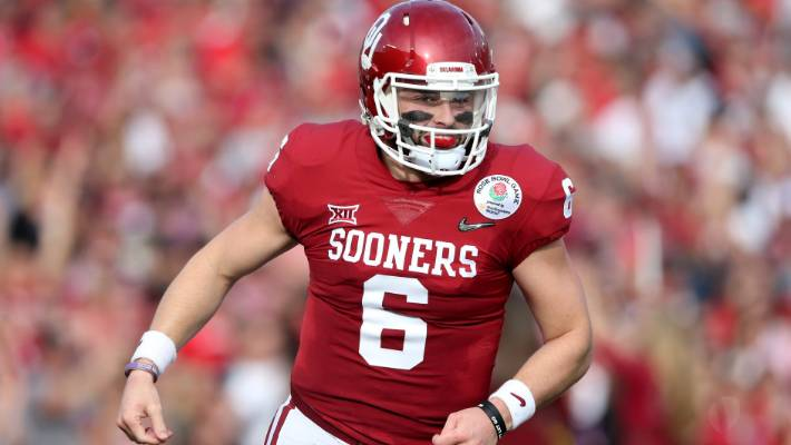 be883fee Baker Mayfield goes first overall to begin rush for quarterbacks in ...