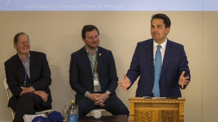 The 2018 Bluegreens Forum in Darfield on Saturday. National Party leader Simon Bridges speaks.