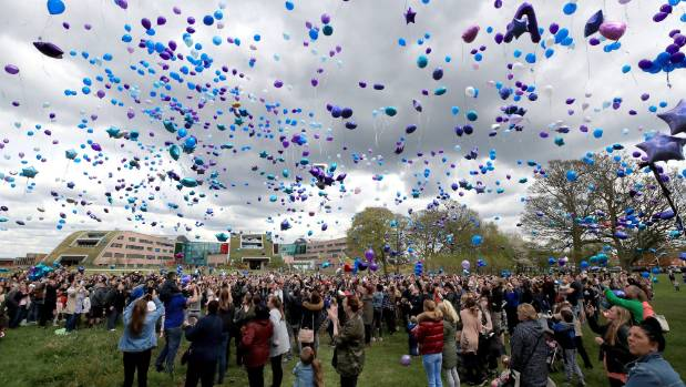 Balloons Released By Supporters Of Alfie Evans After His Death Earlier Today