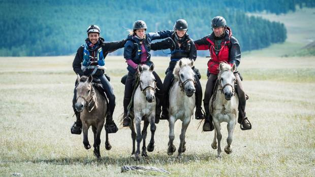 Friendships are forged between the riders in the Mongol Derby, a 1000 kilometre horse race in Mongolia.
