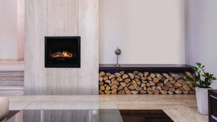 Rinnai S Ember Is A Compact Gas Fire That Has The Option Of Logs Or River Stones
