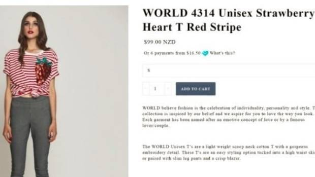 World has taken down the web-page selling the strawberry sequin T-shirt, which Spinoff found was purchased from a ...