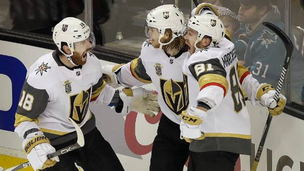 Golden Knights survive late Sharks attack to take 3-2 series lead