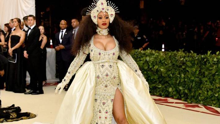 Lady Gaga Wears Hypnotizing Ruffled Dress to Met Gala Pre-Party