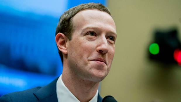 Facebook CEO Mark Zuckerberg pauses while testifying on Capitol Hill in Washington DC in April