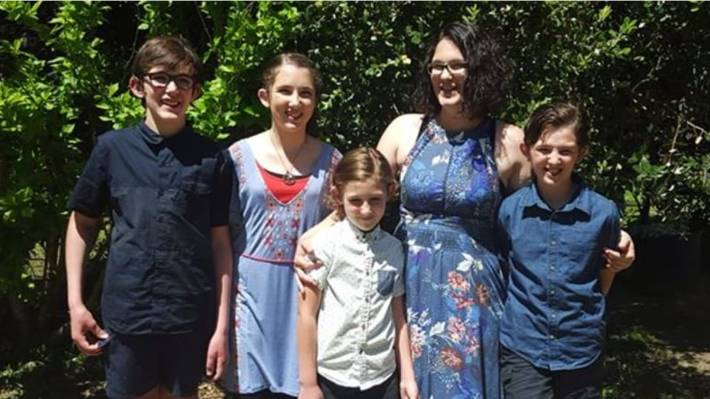 Katrina Miles With Her Four Children A Mother And Are Among The