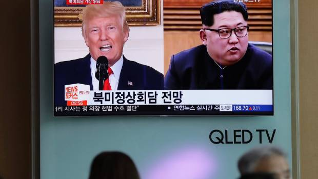 Trump pushes for denuclearisation of Korean Peninsula despite uncertainty around summit