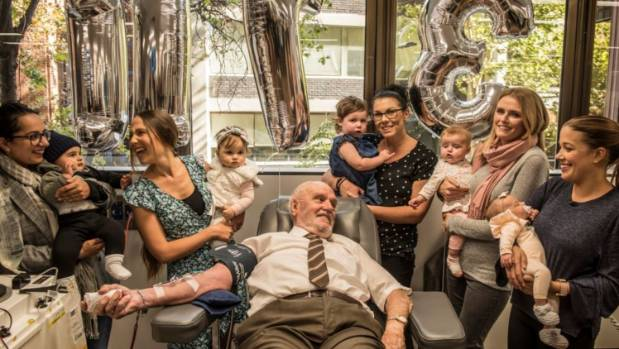 This man's blood has saved the lives of two million babies