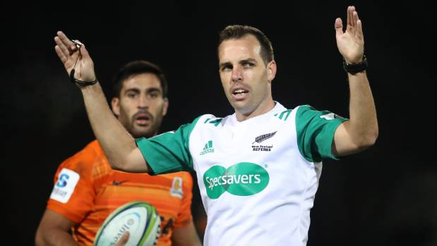 New Zealand rugby ref Mike Fraser.