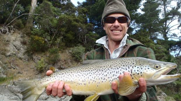 Jamie McFadden with the result of a afternoon's fishing at his favourite spot.