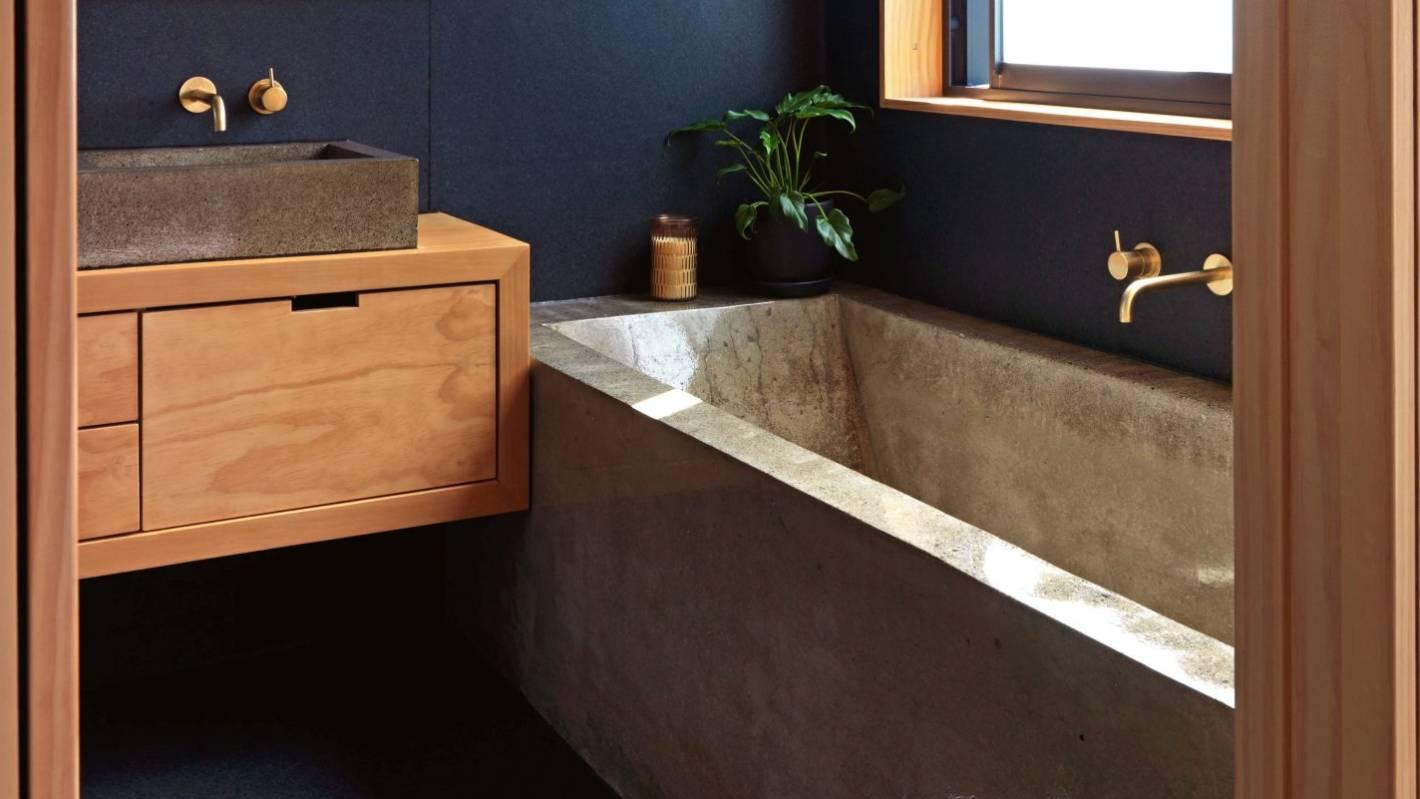 Pour It Yourself Concrete Bath An Award Winner Stuff Co Nz
