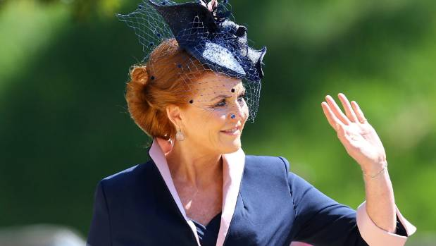 Sarah, Duchess of York arrives at St George's Chapel.