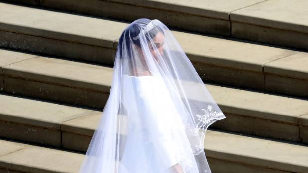 Meghan Markle arrives for her wedding.
