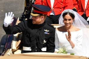 Prince Harry, Duke of Sussex and Meghan, Duchess of Sussex leave Windsor Castle after their wedding. An October visit to ...