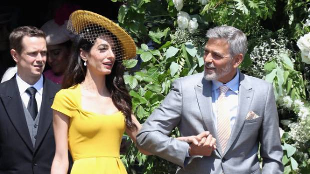 The star-studded wedding included attendees George and Amal Clooney.