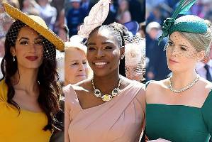 Amal Clooney, Serena Williams and Kitty Spencer all nailed their royal wedding looks.