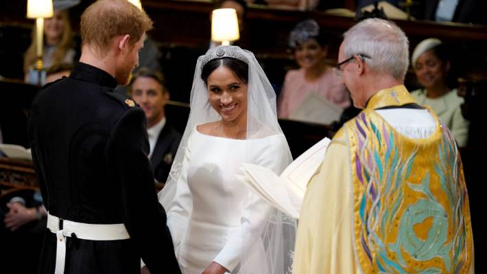 Meghan Markle Wedding Pictures.Was Meghan Markle Hiding A Baby Bump Under Her Wedding Dress