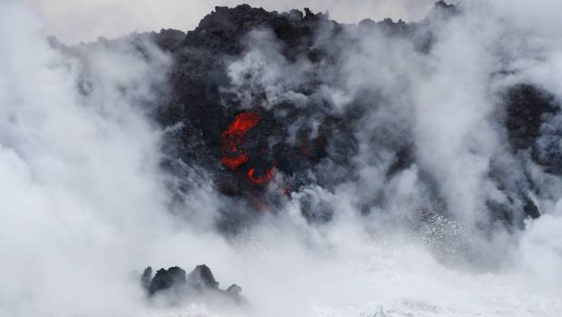 Faster-moving Hawaii lava gushes into sea, spews new danger
