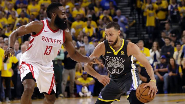 5110db6de7d James Harden stars as Houston Rockets level series with Golden State ...