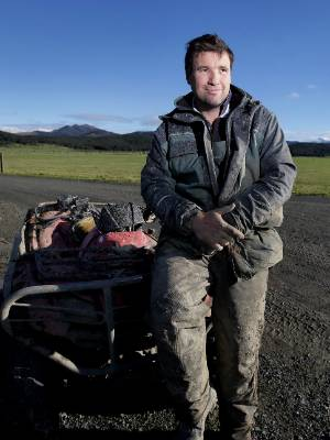 Ben Walling, a dry stock beef farmer, whose Five Rivers, northern Southland, farm has been infected with  Mycoplasma ...