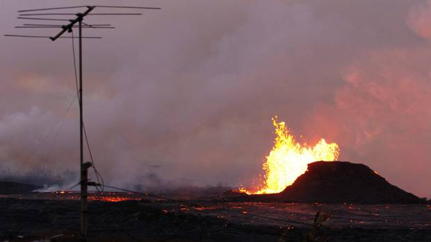 The Kilauea volcano has opened more than 20 vents in the ground that have released lava sulfur dioxide and steam