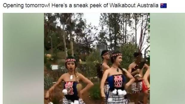 San Diego Zoo's Facebook live feed at the opening of Walkabout Australia with Māori dancers.