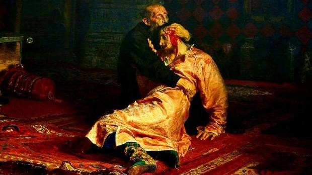 Vandal Damages 'Ivan the awful and His Son Ivan' Painting - Tretyakov Gallery