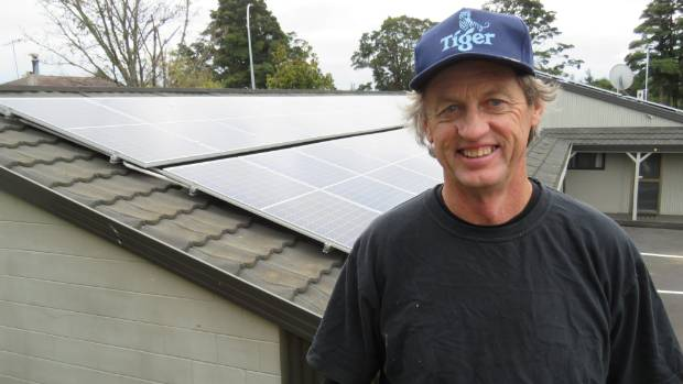 Kevin Deadman has upgraded the Ruapehu Motel and Lodge to solar to help keep costs down.