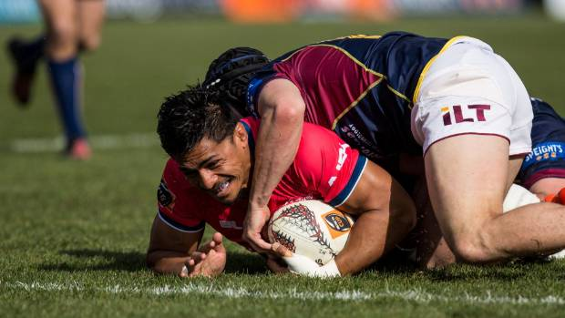 Tasman Mako flanker Pete Samu, pictured in action during the team's Mitre 10 Cup match against the Southland Stags at ...