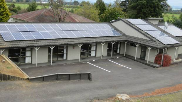 127 inverted solar panels were installed on Ruapehu Motel and Lodge.