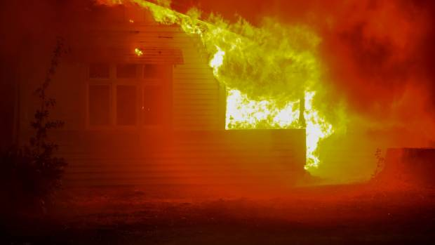 A controlled burn done by Fire & Emergency NZ for television illustrates just how quickly a home can take light.