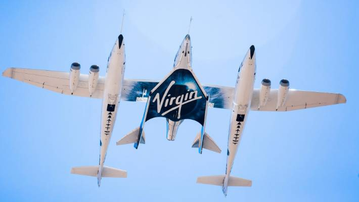 Virgin Galactic's rocket plane reaches edge of space