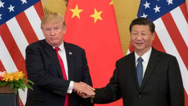 President Trump and Chinese president Xi Jinping during Trump's visit to China last November. The US has threatened