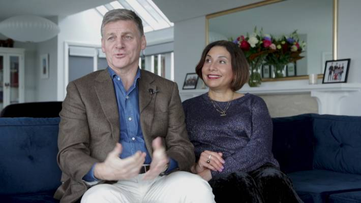 Former Prime Minister and now Sir Bill English and Lady Mary English.