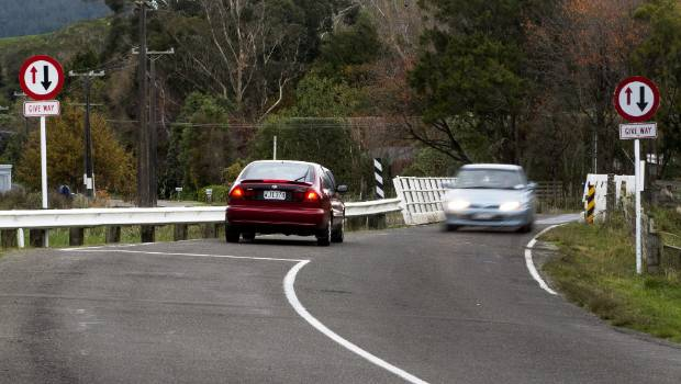 A one-way bridge on Turitea Rd, just outside Palmerston North, was the scene of a fatal crash on Sunday.