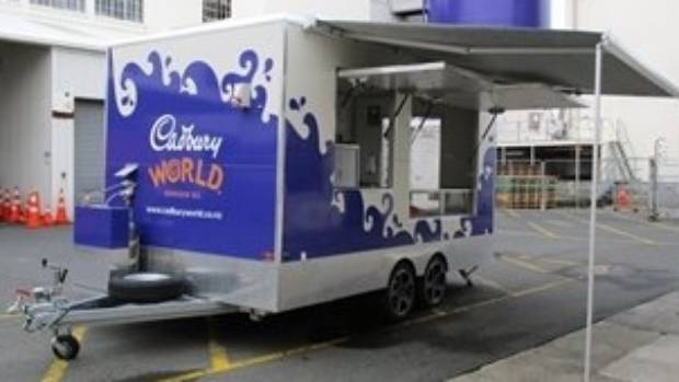 Items up for auction from the former Dunedin Cadbury site include a custom made vendor van.